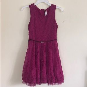 Pink, Floral, Lacy, Girl's Dress by Knitworks 14